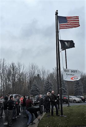 ISO Flag Raising